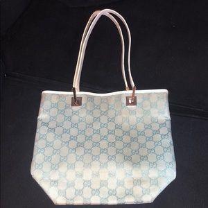 Stylish vintage blue Gucci bag